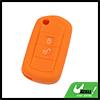 2 Button Orange Car Silicone Remote Key Cover Case...