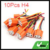 10Pcs H4 Ceramic 3 Wires Harness Socket Car Light ...