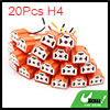 20Pcs H4 Ceramic 3 Wires Harness Socket Car Light ...