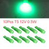 10Pcs T5 Ceramics Base 12V 0.5W Green LED Car Dash...