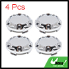 4Pcs Silver Tone 64mm Dia 4 Lugs Car Tire Wheel Ce...