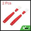 2pcs Red Plastic Car Vent Air Conditioner Brush Bl...