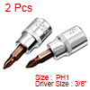 2Pcs 3/8-Inch Drive PH1 Philips Bit Socket, S2 Ste...