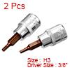 2Pcs 3/8-Inch Drive 3mm Hex Bit Socket, S2 Steel