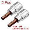 2Pcs 3/8-Inch Drive 6mm Hex Bit Socket, S2 Steel