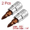 2Pcs 1/4-Inch Drive PZ1 Pozi Bit Socket, S2 Steel
