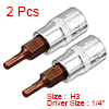 2Pcs 1/4-Inch Drive 3mm Hex Bit Socket, S2 Steel