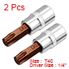 2Pcs 1/4-Inch Drive T40 Torx Bit Socket, S2 Steel