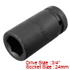3/4-inch Drive 24mm 6-Point Deep Impact Socket, Cr...