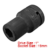 1-inch Drive 19mm 6-Point Deep Impact Socket, Cr-V...