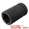 1-inch Drive 30mm 6-Point Deep Impact Socket, Cr-V...