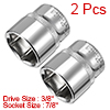 2Pcs 3/8-inch Drive by 7/8-inch SAE Shallow Socket...