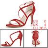 Women Glitter Design Stiletto Heel Strappy Sandals...