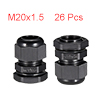 26Pcs M20 Cable Gland Waterproof Connector Plastic...