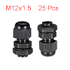25Pcs M12 Cable Gland Waterproof Connector Plastic...