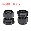 9Pcs PG16 Cable Gland Waterproof Connector Plastic...