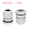 7Pcs PG13.5 Cable Gland Waterproof Connector Plast...