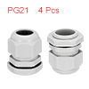 4Pcs PG21 Cable Gland Waterproof Connector Plastic...