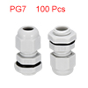 100Pcs PG7 Cable Gland Waterproof Connector Plasti...