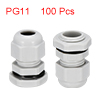 100Pcs PG11 Cable Gland Waterproof Plastic Joint A...