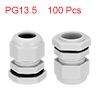 100Pcs PG13.5 Cable Gland Waterproof Plastic Joint...