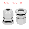 100Pcs PG16 Cable Gland Waterproof Plastic Joint A...