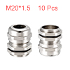 10Pcs M20 Cable Gland Metal Waterproof Connector W...