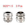 3Pcs M25 Cable Gland Metal Waterproof Connector Wi...