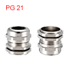 PG21 Cable Gland Metal Waterproof Connector Wire G...