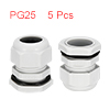 5Pcs PG25 Cable Gland Waterproof Plastic Joint Adj...