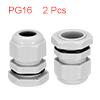2Pcs PG16 Cable Gland Waterproof Plastic Joint Adj...