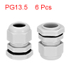 6Pcs PG13.5 Cable Gland Waterproof Plastic Joint A...
