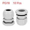10Pcs PG16 Cable Gland Waterproof Plastic Joint Ad...