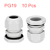 10Pcs PG19 Cable Gland Waterproof Plastic Joint Ad...