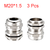 3Pcs M20 Cable Gland Metal Waterproof Connector Wi...