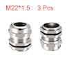 3Pcs M22 Cable Gland Metal Waterproof Connector Wi...