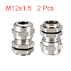2Pcs M12 Cable Gland Metal Waterproof Connector Wi...