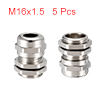 5Pcs M16 Cable Gland Metal Waterproof Connector Wi...