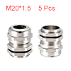 5Pcs M20 Cable Gland Metal Waterproof Connector Wi...