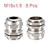 5Pcs M18 Cable Gland Metal Waterproof Connector Wi...