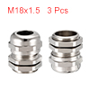 3Pcs M18 Cable Gland Metal Waterproof Connector Wi...