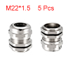 5Pcs M22 Cable Gland Metal Waterproof Connector Wi...