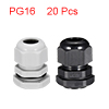 20Pcs PG16 Cable Gland Waterproof Plastic Joint Ad...