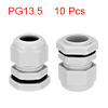 10Pcs PG13.5 Cable Gland Waterproof Plastic Joint ...