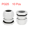 10Pcs PG25 Cable Gland Waterproof Plastic Joint Ad...