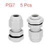 5Pcs PG7 Cable Gland Waterproof Plastic Joint Adju...
