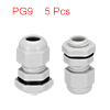 5Pcs PG9 Cable Gland Waterproof Plastic Joint Adju...