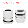 10Pcs PG29 Cable Gland Waterproof Plastic Joint Ad...