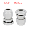 10Pcs PG11 Cable Gland Waterproof Plastic Joint Ad...