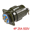 Aviation Connector, 28mm 4P 25A 500V YP28-4 Waterp...